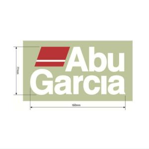 アブガルシア(AbuGarcia)アブガルシア ステッカーRed x White 160mm