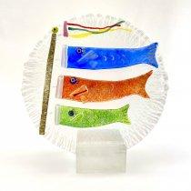 【受注制作】鯉のぼり 虹彩丸板 中