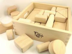【受注制作】木箱入り積み木セット ハーフサイズ
