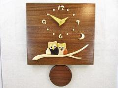 振り子時計(ウォールナット)