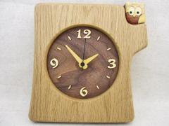 【受注制作】切株掛け置き時計