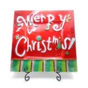 ウィンタープレート メリークリスマス角型