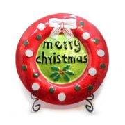 ウィンタープレート メリークリスマス丸型