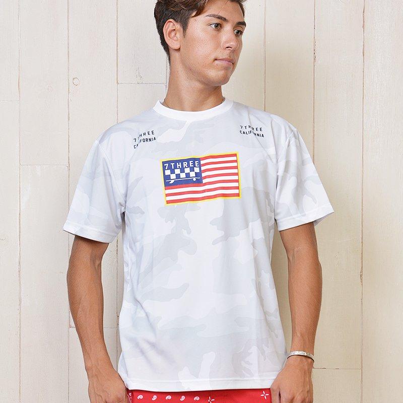 7THREE USA CAMO RASH DRY T-SHIRT 18AW