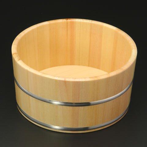 塗装で長持ち ひのき湯桶 ステンレスタガ(塗装あり)