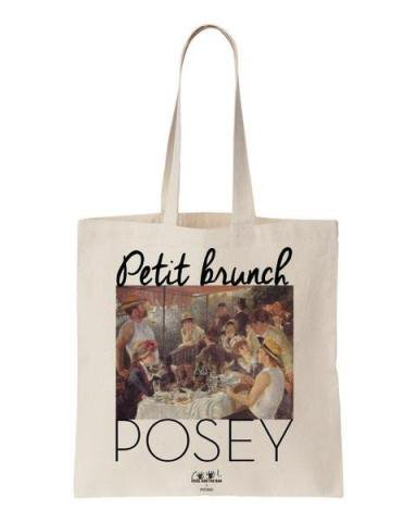 COOL AND THE BAG (クールアンドザバッグ) フランス製 コットン100% トートバッグ 【Petit brunch posey】