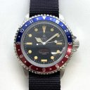 WATCH EXPERIMENTAL UNIT ROYAL MARINE FROGMAN Mat BK Pilot Blue/Red