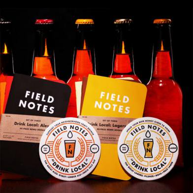 �ڸ���� FIELD NOTES �ʥե�����ɥΡ��ȡ� DRINK LOCAL 3-Pack  3��å�