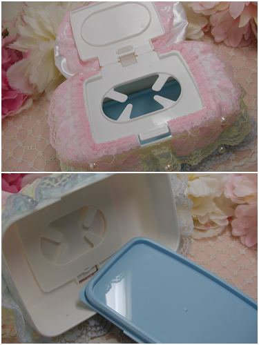 <img class='new_mark_img1' src='//img.shop-pro.jp/img/new/icons57.gif' style='border:none;display:inline;margin:0px;padding:0px;width:auto;' />【薔薇雑貨】ローズリボン ウェットティッシュケースの画像