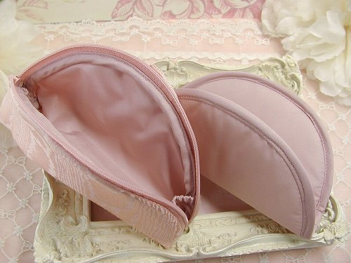 プリンセスリボン メガネケース ピンクの画像