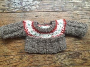 模様編みセーター