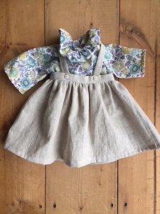 丸襟ブラウス &スカートセット*30cm