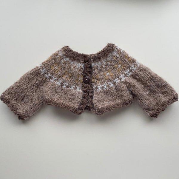 編み込みセーター*グレー
