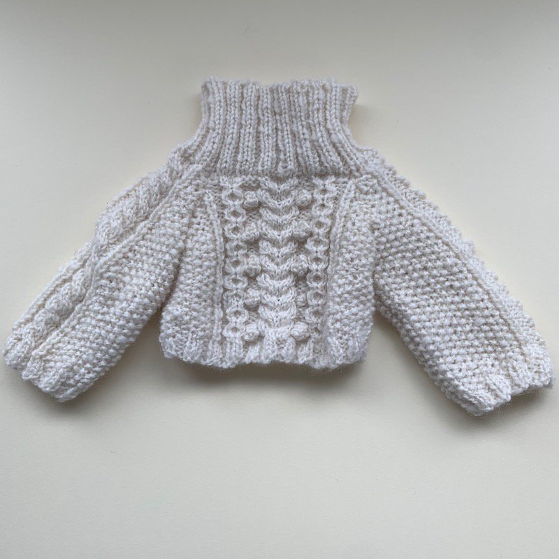 40cmケーブル模様タートルネックセーターPDF