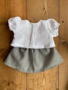 白フリルブラウス&スカート*30cm
