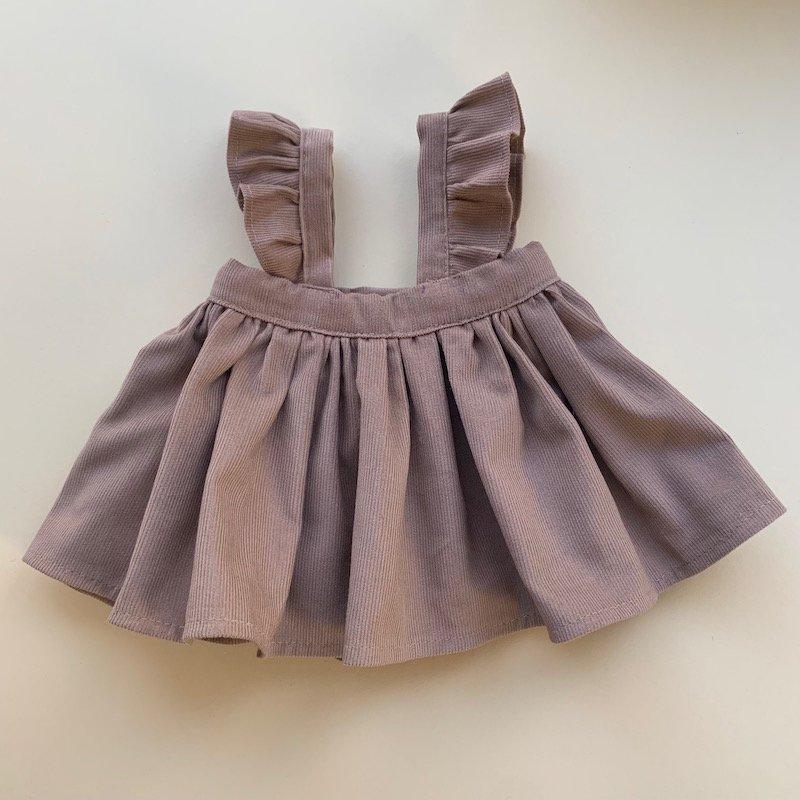 吊りスカート*オーカーブラウン