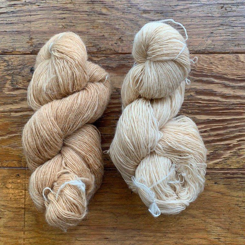 草木染め手紡ぎ糸 for doll hair