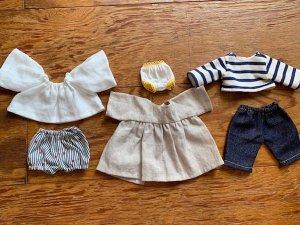 20cm人形用お洋服パターン