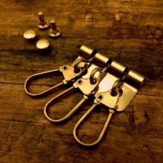 真鍮製3連キーパーツ(馬蹄)