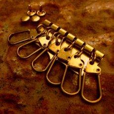 真鍮製6連キーパーツ(馬蹄)