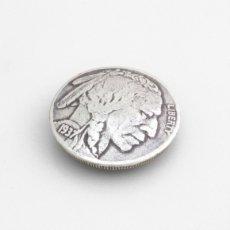 USコインコンチョレプリカ インディアン(ネジ式)21mm