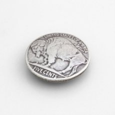 USコインコンチョレプリカ バッファロー(ネジ式) 21mm