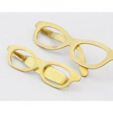 真鍮製メガネクリップ