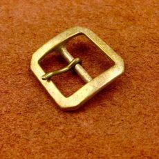 真鍮製八角形バックル20mm
