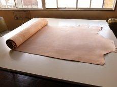 ヌメ半裁の床革