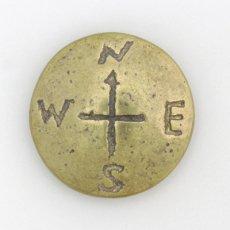 羅針盤コンチョ(真鍮製)