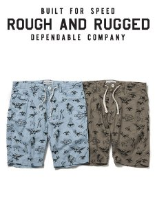 <img class='new_mark_img1' src='https://img.shop-pro.jp/img/new/icons16.gif' style='border:none;display:inline;margin:0px;padding:0px;width:auto;' />40%OFF SALE ROUGH AND RUGGED (ラフアンドラゲッド) JHONS (オリジナルパターンショーツ) 2color