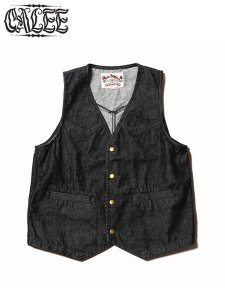 <img class='new_mark_img1' src='//img.shop-pro.jp/img/new/icons1.gif' style='border:none;display:inline;margin:0px;padding:0px;width:auto;' />CALEE (キャリー) DENIM VEST (デニムベスト) Black