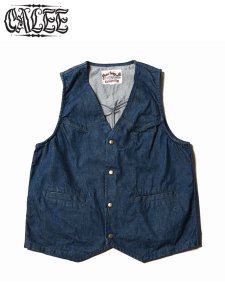 <img class='new_mark_img1' src='//img.shop-pro.jp/img/new/icons1.gif' style='border:none;display:inline;margin:0px;padding:0px;width:auto;' />CALEE (キャリー) DENIM VEST (デニムベスト) Blue