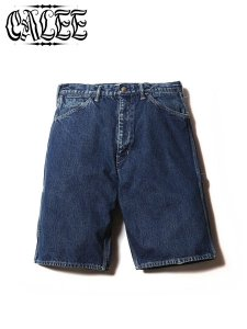 <img class='new_mark_img1' src='//img.shop-pro.jp/img/new/icons1.gif' style='border:none;display:inline;margin:0px;padding:0px;width:auto;' />CALEE (キャリー) PAINTER DENIM SHORT PANTS (ペインターデニムショーツ) Used Indigo