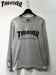<img class='new_mark_img1' src='//img.shop-pro.jp/img/new/icons1.gif' style='border:none;display:inline;margin:0px;padding:0px;width:auto;' />THRASHER (スラッシャー) MAG LOGO L/S TEE (L/S プリントTシャツ) Gray