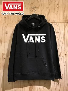 <img class='new_mark_img1' src='//img.shop-pro.jp/img/new/icons1.gif' style='border:none;display:inline;margin:0px;padding:0px;width:auto;' />VANS (バンズ) LOGO PULLOVER PARKA (プルオーバーパーカー) Black