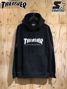 <img class='new_mark_img1' src='//img.shop-pro.jp/img/new/icons1.gif' style='border:none;display:inline;margin:0px;padding:0px;width:auto;' />THRASHER (スラッシャー) × STARTER BLACK LABEL (スターターブラックレーベル) PULLOVER HOODIE (プルオーバーパーカー) Black