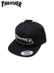 <img class='new_mark_img1' src='//img.shop-pro.jp/img/new/icons1.gif' style='border:none;display:inline;margin:0px;padding:0px;width:auto;' />THRASHER (スラッシャー) × MARK GONZALES (マークゴンザレス) LOGO SNAPBACK CAP (スナップバックキャップ) Black