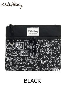 <img class='new_mark_img1' src='//img.shop-pro.jp/img/new/icons43.gif' style='border:none;display:inline;margin:0px;padding:0px;width:auto;' />Keith Haring (キースヘリング) SHOULDER BAG (ショルダーバッグ) Black