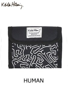 <img class='new_mark_img1' src='//img.shop-pro.jp/img/new/icons1.gif' style='border:none;display:inline;margin:0px;padding:0px;width:auto;' />Keith Haring (キースヘリング) SHORT WALLET (ショートウォレット) HUMAN