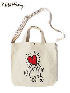 <img class='new_mark_img1' src='//img.shop-pro.jp/img/new/icons43.gif' style='border:none;display:inline;margin:0px;padding:0px;width:auto;' />Keith Haring (キースヘリング) 2WAY SHOULDER TOTE BAG (ショルダー / トートバッグ) HATE