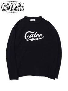<img class='new_mark_img1' src='https://img.shop-pro.jp/img/new/icons16.gif' style='border:none;display:inline;margin:0px;padding:0px;width:auto;' />40%OFF SALE CALEE (キャリー) COTTON SLUB KNIT SWEATER (L/S スラブニットセーター) Black