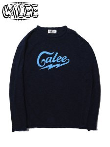 <img class='new_mark_img1' src='https://img.shop-pro.jp/img/new/icons16.gif' style='border:none;display:inline;margin:0px;padding:0px;width:auto;' />40%OFF SALE CALEE (キャリー) COTTON SLUB KNIT SWEATER (L/S スラブニットセーター) Navy