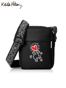 <img class='new_mark_img1' src='//img.shop-pro.jp/img/new/icons1.gif' style='border:none;display:inline;margin:0px;padding:0px;width:auto;' />Keith Haring (キースヘリング) SHOULDER BAG (ショルダーバッグ) HEART