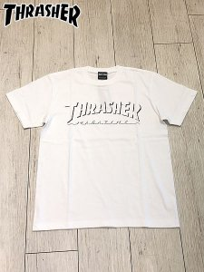 <img class='new_mark_img1' src='//img.shop-pro.jp/img/new/icons1.gif' style='border:none;display:inline;margin:0px;padding:0px;width:auto;' />THRASHER (スラッシャー) SHADOW LOGO S/S T-SHIRT (プリントTシャツ) White