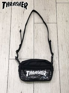 <img class='new_mark_img1' src='//img.shop-pro.jp/img/new/icons1.gif' style='border:none;display:inline;margin:0px;padding:0px;width:auto;' />THRASHER (スラッシャー) THRSG400C SHOULDER POUCH (ショルダーバッグ) BLACK