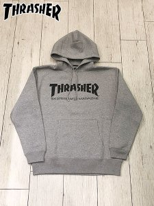 <img class='new_mark_img1' src='//img.shop-pro.jp/img/new/icons1.gif' style='border:none;display:inline;margin:0px;padding:0px;width:auto;' />THRASHER (スラッシャー) MAG LOGO HOODIE (プルオーバーパーカー) Gray