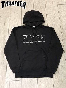 <img class='new_mark_img1' src='//img.shop-pro.jp/img/new/icons1.gif' style='border:none;display:inline;margin:0px;padding:0px;width:auto;' />THRASHER (スラッシャー) New Religion Worldwide HOODIE (プルオーバーパーカー) Black