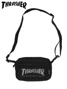 <img class='new_mark_img1' src='//img.shop-pro.jp/img/new/icons1.gif' style='border:none;display:inline;margin:0px;padding:0px;width:auto;' />THRASHER (スラッシャー) THRSG400 SHOULDER POUCH (ショルダーバッグ) Black/White