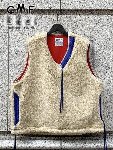 <img class='new_mark_img1' src='//img.shop-pro.jp/img/new/icons43.gif' style='border:none;display:inline;margin:0px;padding:0px;width:auto;' />COMFY OUTDOOR GARMENT (コムフィーアウトドアガーメンツ) SOLID VEST (ボアベスト) Beige